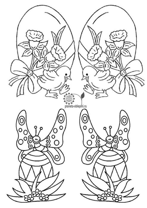 Шаблоны для открыток к пасхе 49