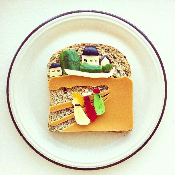 картины из еды Ида Скивенес 5 (612x612, 73Kb)