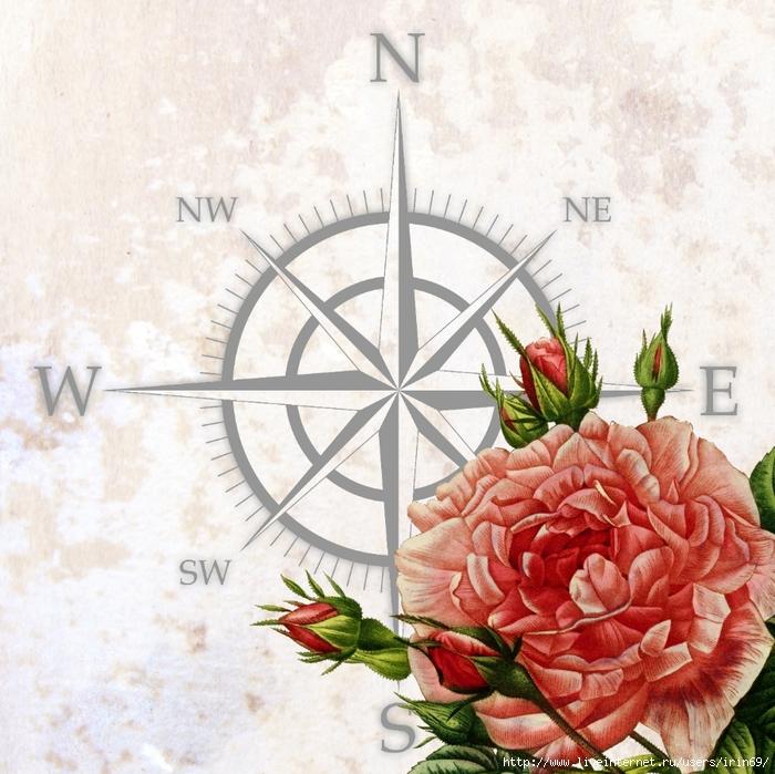 """Схема вышивки  """"роза ветров """" ."""