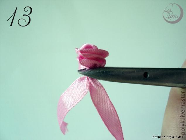 """手工丝带花:""""微型玫瑰""""(硕士班) - maomao - 我随心动"""