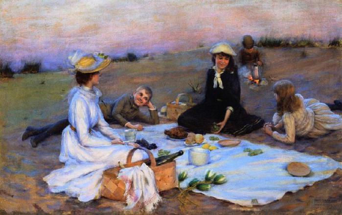 Charles_Courtney_Curran_-_Picnic_Supper_on_the_Sand_Dunes (700x439, 52Kb)