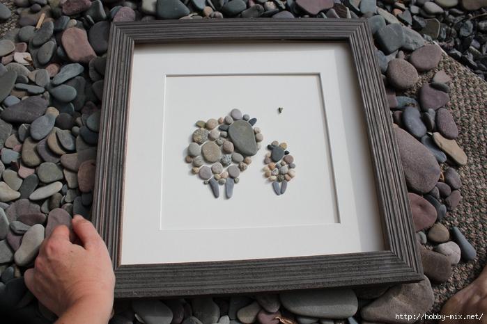 Картина из камней своими руками фото