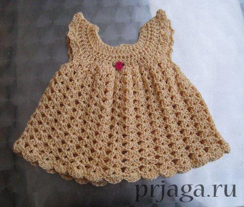 Схемы вязания крючком платьев