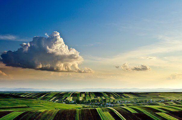 Вид на деревню Моара, Румыния (604x401, 41Kb)