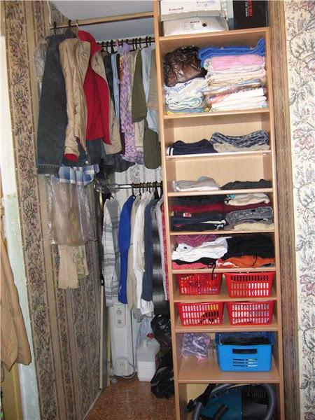 Как сделать гардеробную из кладовки?. обсуждение на liveinte.
