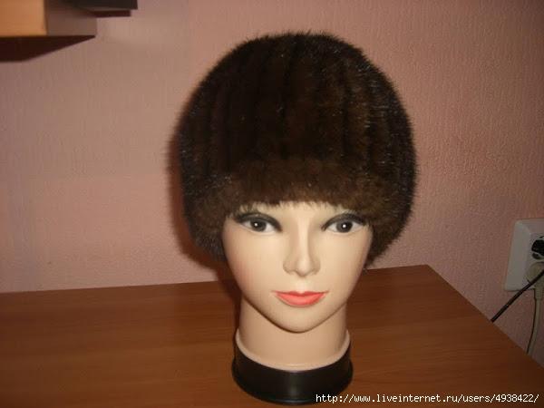 Вязание шапок из меха норки своими руками