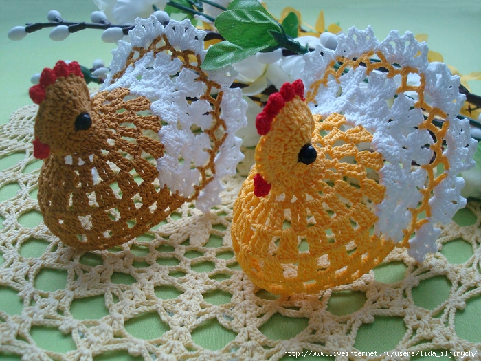 """钩针:""""兔子和鸡"""" - 荷塘秀色 - 茶之韵"""