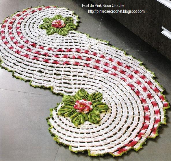 коврики и комплекты для ванной крючком из меланжевой пряжи (1) (592x555, 802Kb)