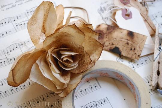 Винтажные розы из кофейных фильтров (14) (540x362, 65Kb)