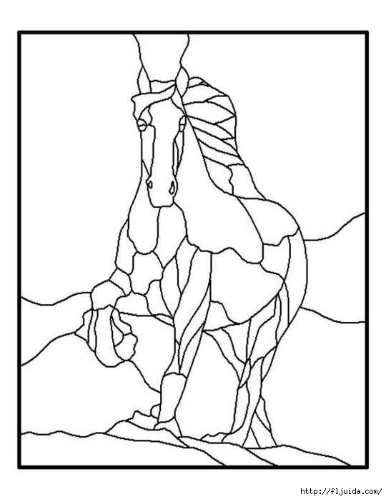 glass pattern 136 horse (540x700, 93Kb)