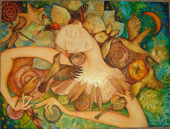 картины американской художницы Холли Сьерра 3 (700x532, 155Kb)