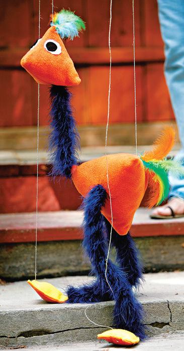 Как сделать страуса из рук в руки