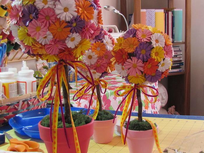 Декоративные цветы своими руками мастер класс 97