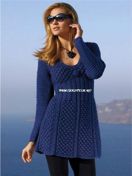 Вязание спмцами платья и