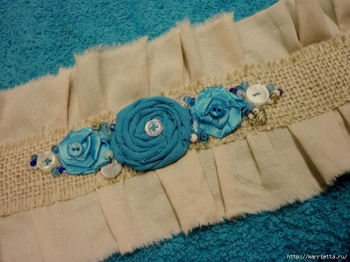 подушки из мешковины, бязи и цветов в стиле шебби шик (10) (700x525, 276Kb)