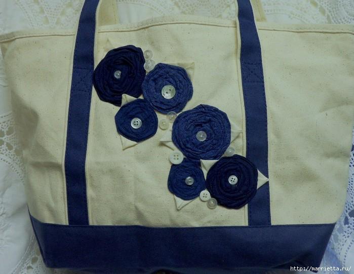 подушки из мешковины, бязи и цветов в стиле шебби шик (12) (700x541, 202Kb)