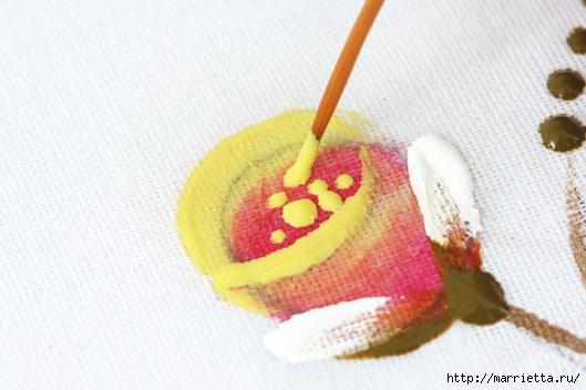 роспись по ткани. растительный мотив с бабочками (6) (529x352, 98Kb)