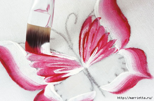 роспись по ткани. растительный мотив с бабочками (8) (528x349, 130Kb)