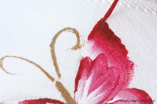 роспись по ткани. растительный мотив с бабочками (10) (527x349, 93Kb)