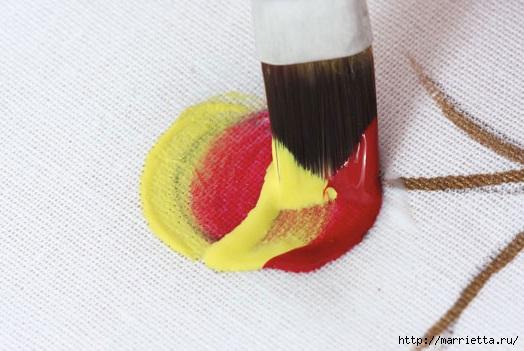 роспись по ткани. растительный мотив с бабочками (13) (524x351, 112Kb)