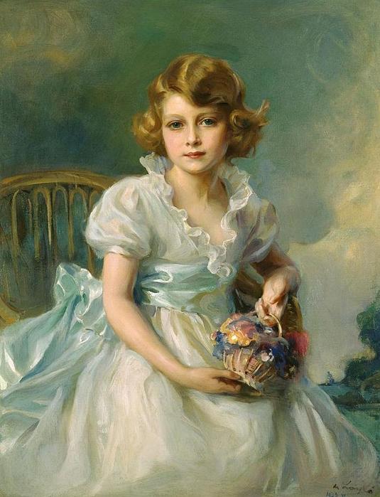 Philip de László.The Queen, when Princess Elizabeth of York ,1933 (535x700, 282Kb)