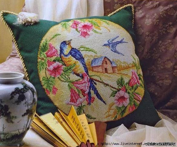 Схемы вышивки болгарским крестом подушки