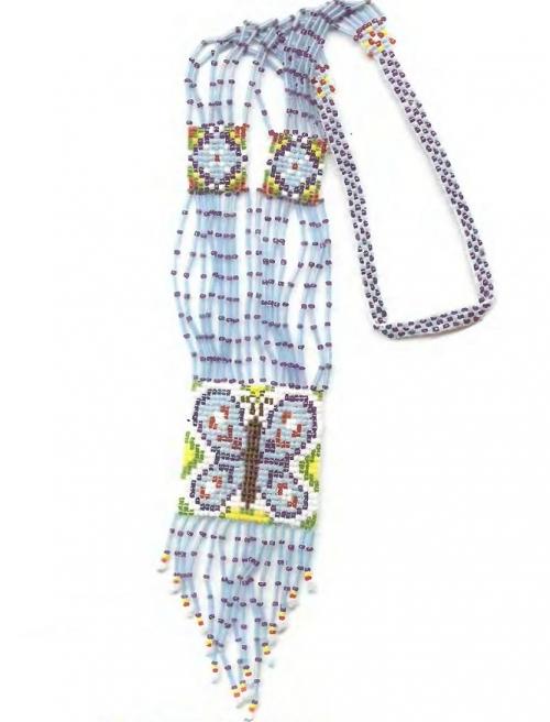 Гердан (гайтан) - нагрудное или наспинное украшение в виде ленты из разноцветного бисера, концы которой соединены...