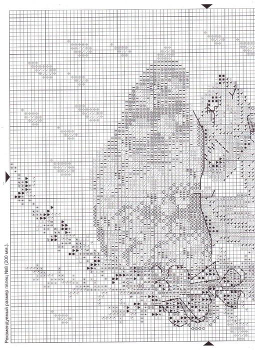 мышата.схемы вышивки крестом