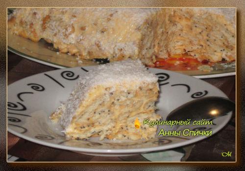 Торт без выпечки Сугроб (500x350, 45Kb)
