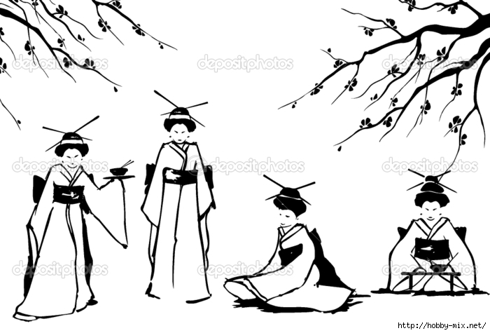 depositphotos_9446535-Geisha-and-sakura. (700x475, 148Kb)