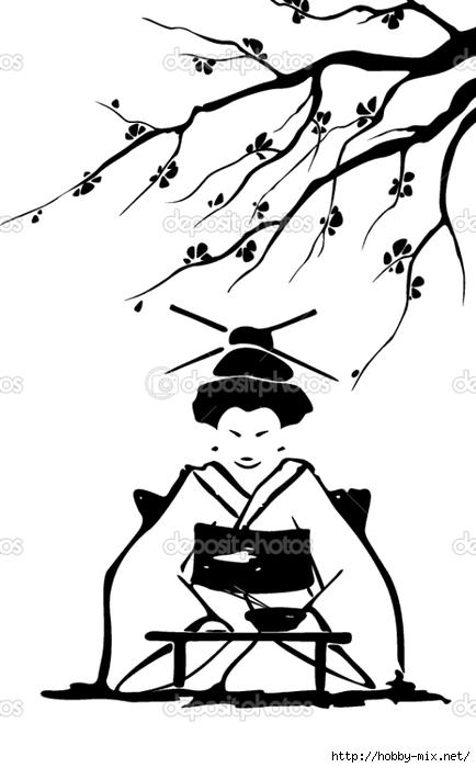 depositphotos_9443089-Geisha-and-sakura. (434x700, 121Kb)