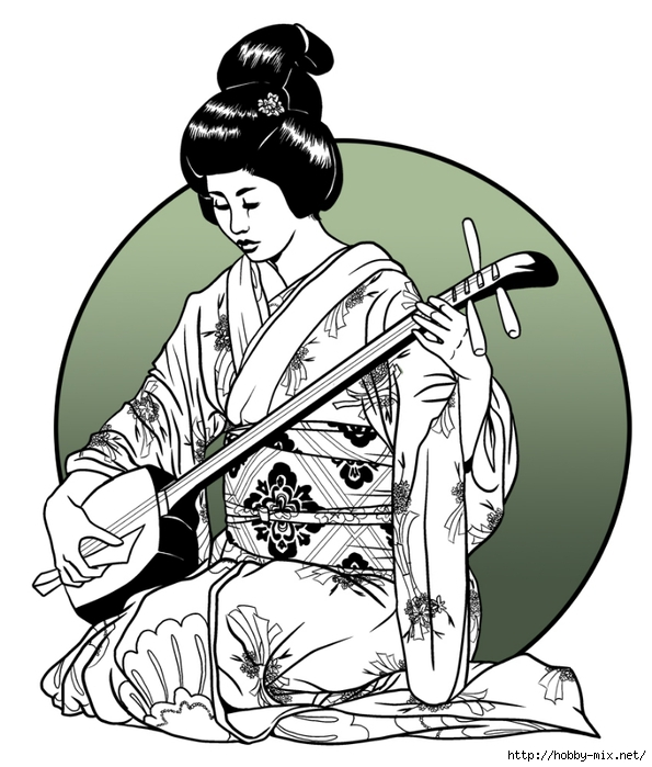 geisha_playing_shamisen_by_asarea-d5cde1q (595x700, 223Kb)