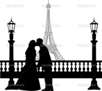 ������ depositphotos_16801331-Wedding-couple-in-front-of-Eiffel-tower-in-Paris-silhouette (700x628, 135Kb)