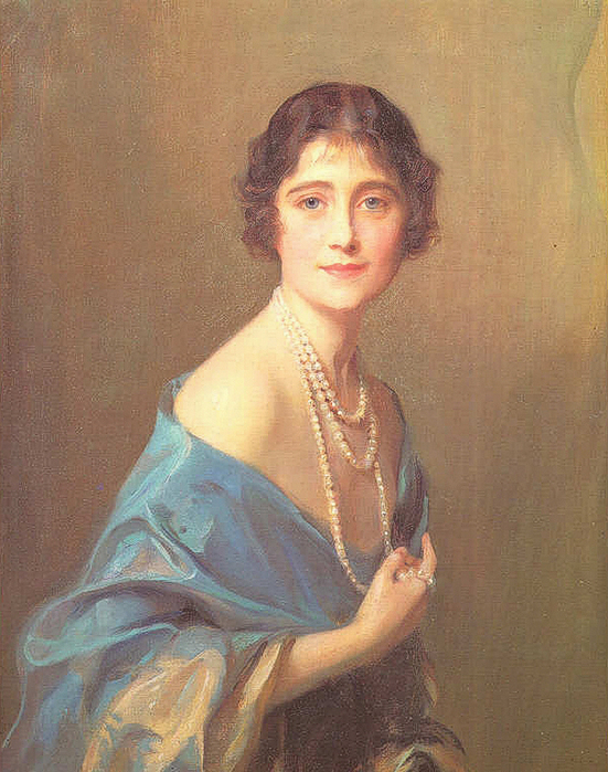 Philip Alexius de Laszlo's Duchess of York (nee Elizabeth Bowes-Lyon, later Queen Elizabeth the Queen Mother) (551x700, 387Kb)