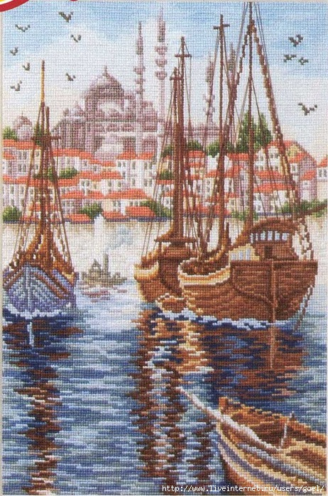 Бухта Золотой Рог в Стамбуле (462x700, 334Kb)