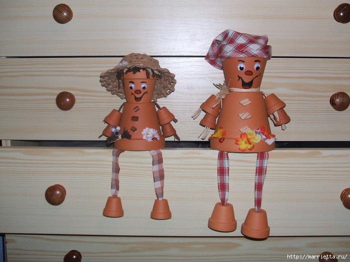 украшение для сада. куклы из цветочных горшков (19) (699x524, 206Kb)