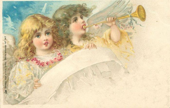 Старинные открытки с нем ангела 744