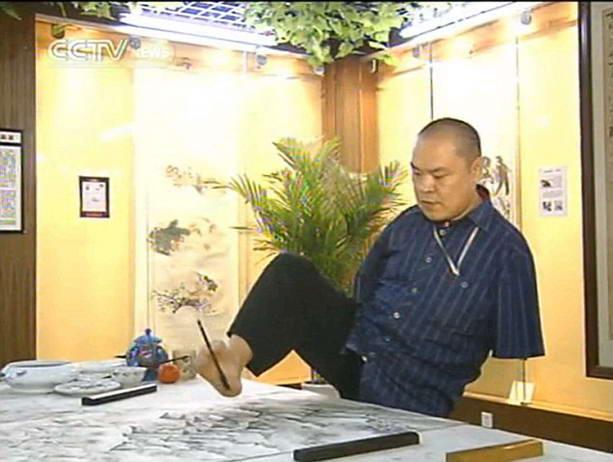 китайских художник-инвалид Хуан Гоффу 4 (613x462, 41Kb)