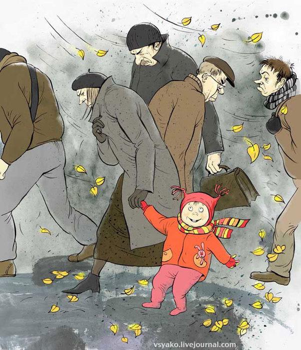 Веселые рисунки Ольги Громовой. Фотографии