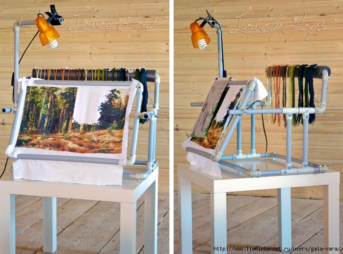 Пластиковый станок для вышивания своими руками фото