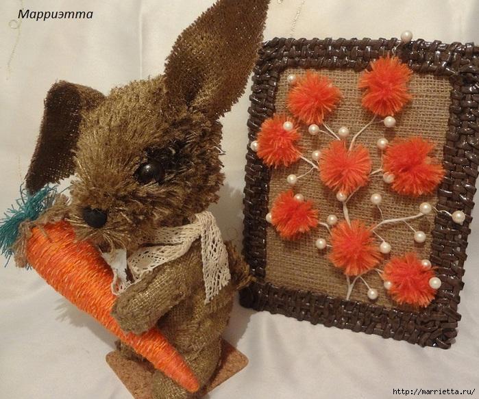 кролик из мешковины (3) (700x583, 314Kb)