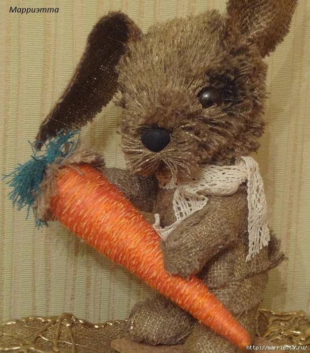 кролик из мешковины (9) (613x700, 308Kb)