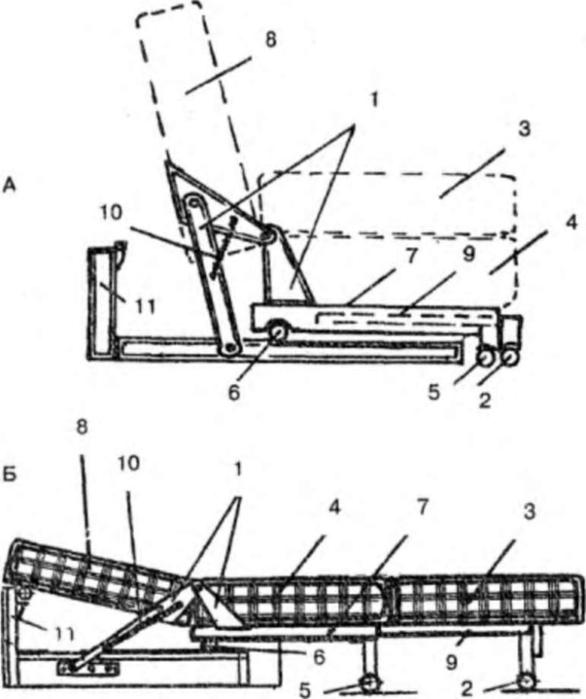 Как сделать диван раскладной своими руками чертежи