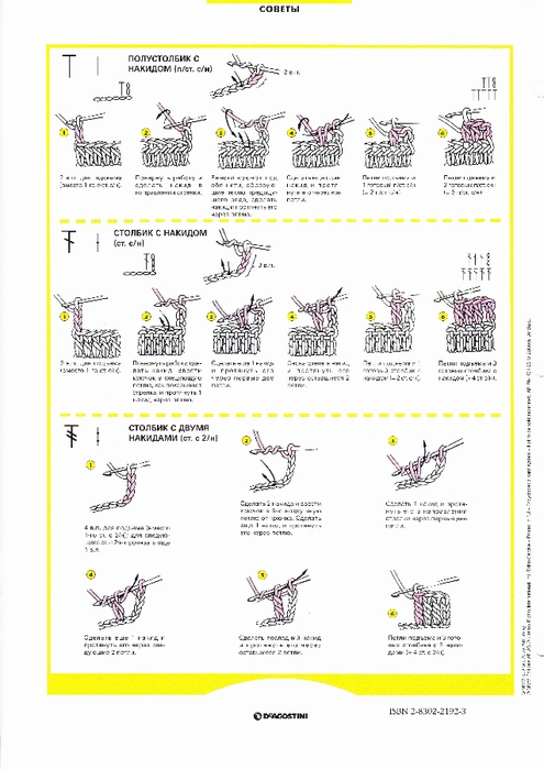 Вязание крючком виды петель с рисунками 74