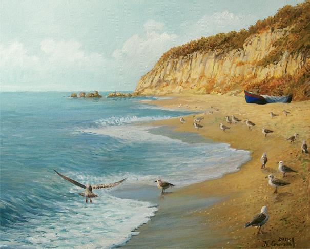 the_beach_by_kirilart-d3ggkse (605x486, 232Kb)