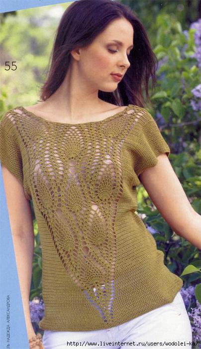 блузка с ананасами (404x700, 151Kb)