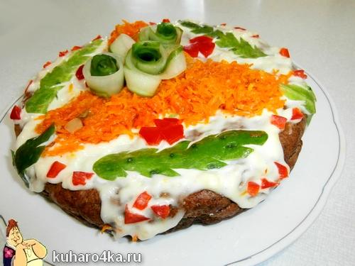 Печёночный торт в мультиварке