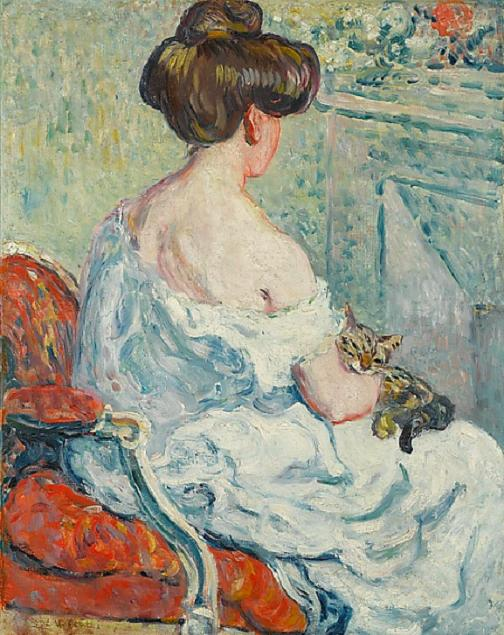 Louis ValtatWoman with Cat1903 (504x635, 70Kb)