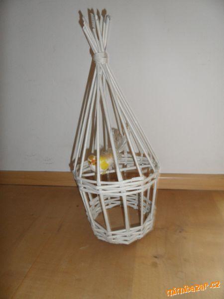 клетка для птички из газетных трубочек (7) (450x600, 23Kb)