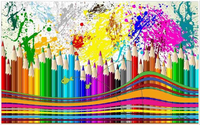 Картинки цветов нарисованные карандашом цветные 2